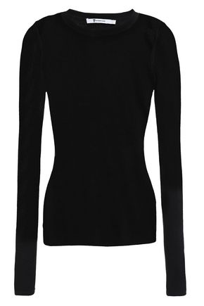 ALEXANDERWANG.T Ribbed merino wool-blend top