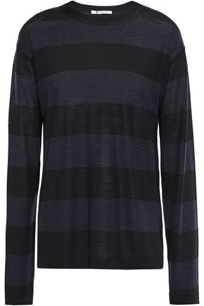 ALEXANDERWANG.T Striped merino wool-blend sweater