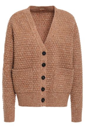 ADAM LIPPES Donegal wool and cashmere-blend cardigan