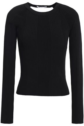 ALEXANDERWANG.T Cutout ribbed-knit top