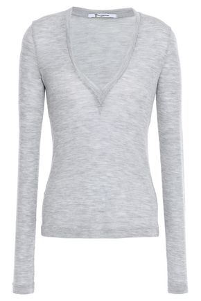 ALEXANDERWANG.T Mélange ribbed wool sweater
