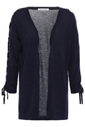 AUTUMN CASHMERE Lace-up cashmere cardigan