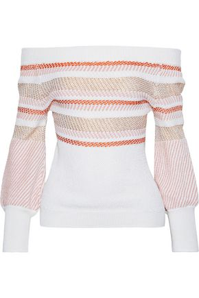 PETER PILOTTO Metallic cotton-blend jacquard sweater