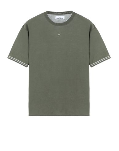 STONE ISLAND 525A9 Short sleeve sweater Man Olive Green USD 306