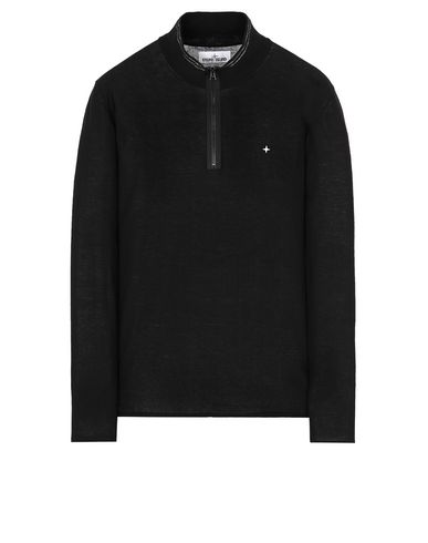 STONE ISLAND 506A9 High neck sweater Man Black USD 245