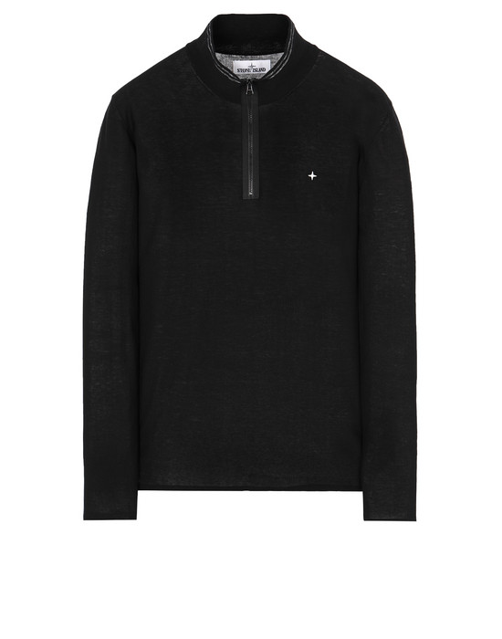 STONE ISLAND 506A9 High neck sweater Man Black