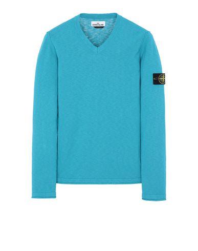 STONE ISLAND 534B0 Sweater Man Turquoise EUR 172