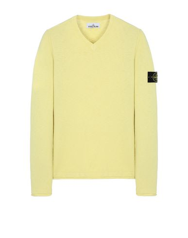 STONE ISLAND 534B0 Sweater Man Lemon USD 186