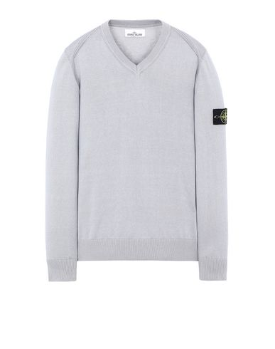 STONE ISLAND 547B2 Sweater Man Dust Gray USD 253