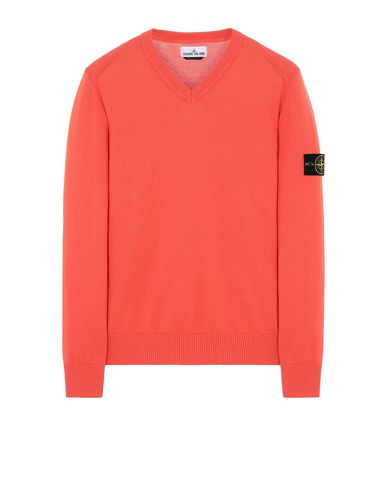 STONE ISLAND 547B2 Sweater Man Lobster Red EUR 225