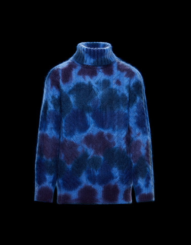 HIGH NECK SWEATER Blue 3 Moncler Grenoble Man
