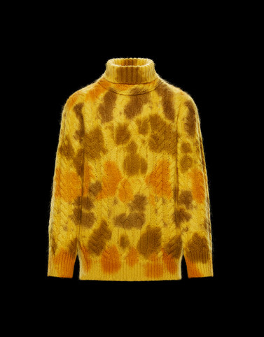 HIGH NECK Mustard Knitwear & Sweatshirts Man