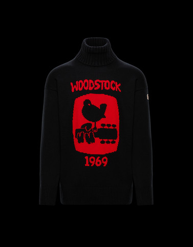 HIGH NECK SWEATER Black 3 Moncler Grenoble Man