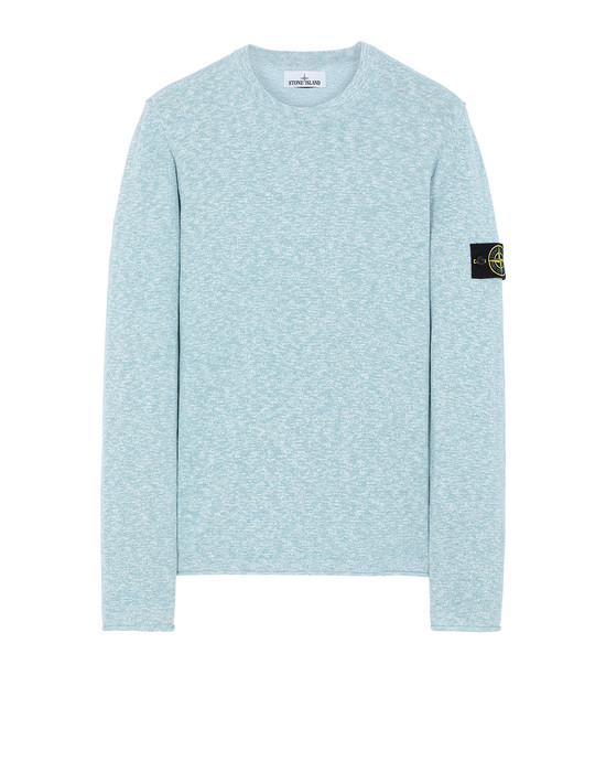 STONE ISLAND 502B0 Sweater Man Turquoise