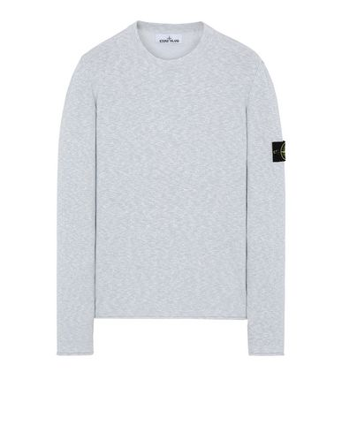 STONE ISLAND 502B0 Sweater Man Baby Blue EUR 233