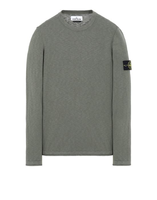 STONE ISLAND 502B0 Sweater Man Olive Green