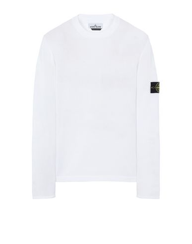 STONE ISLAND 517B3 Sweater Man White USD 249