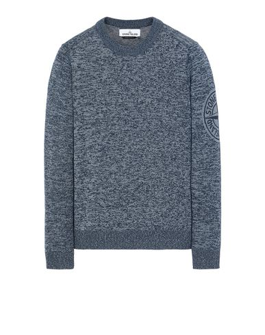 STONE ISLAND 564D7 Sweater Man Marine Blue USD 410