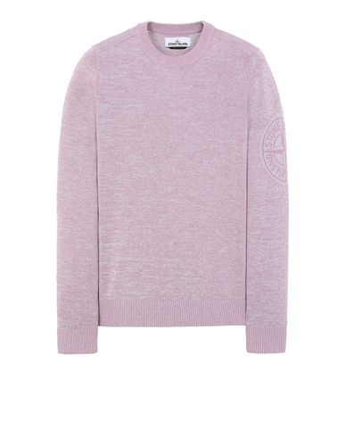 STONE ISLAND 564D7 Sweater Man Pink Quartz USD 262