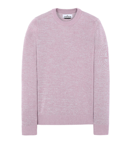 STONE ISLAND 564D7 Sweater Man Pink Quartz