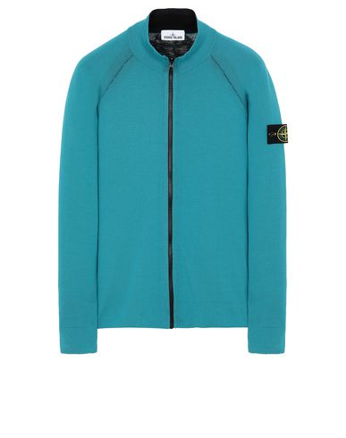 STONE ISLAND 520B5 REVERSIBLE KNIT  Sweater Man Turquoise USD 368