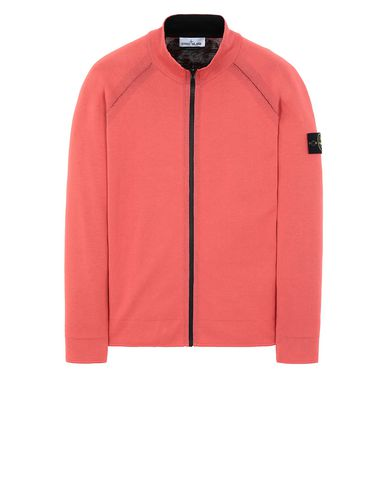 STONE ISLAND 520B5 REVERSIBLE KNIT  Sweater Man Lobster Red USD 353