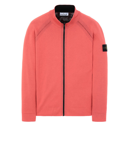 STONE ISLAND 520B5 REVERSIBLE KNIT  Sweater Man Lobster Red