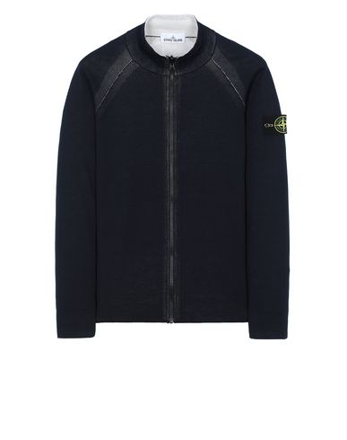 STONE ISLAND 520B5 REVERSIBLE KNIT  Sweater Man Blue EUR 209