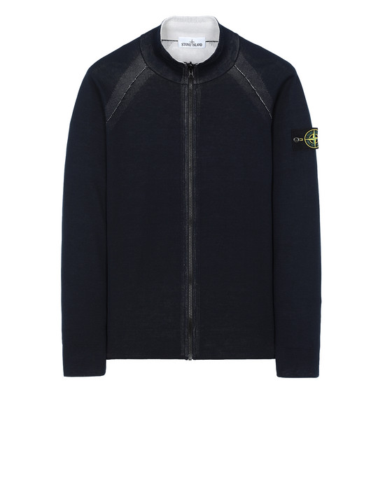 STONE ISLAND 520B5 REVERSIBLE KNIT  Sweater Man Blue