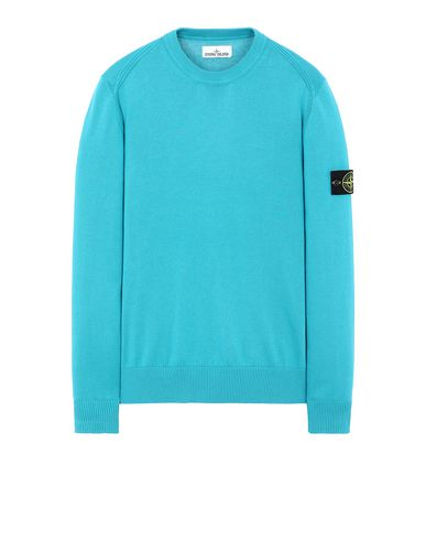 STONE ISLAND 510B2 Sweater Man Turquoise USD 202
