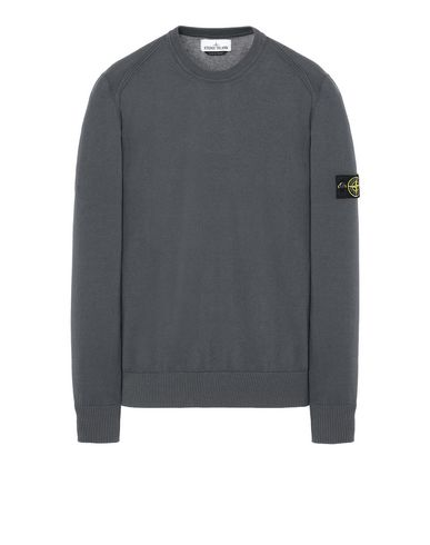 STONE ISLAND 510B2 Sweater Man Blue Grey EUR 233