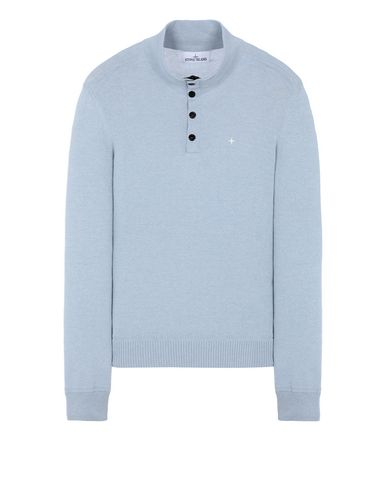 STONE ISLAND 508D3 Sweater Man Baby Blue EUR 238