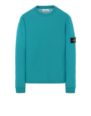 STONE ISLAND 554D5 Sweater Man Turquoise USD 350