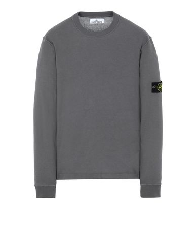 STONE ISLAND 554D5 Sweater Man Blue Grey EUR 269