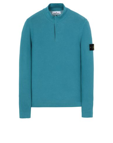 STONE ISLAND 561D9 PIGMENT DYE TREATMENT Sweater Man Turquoise EUR 307