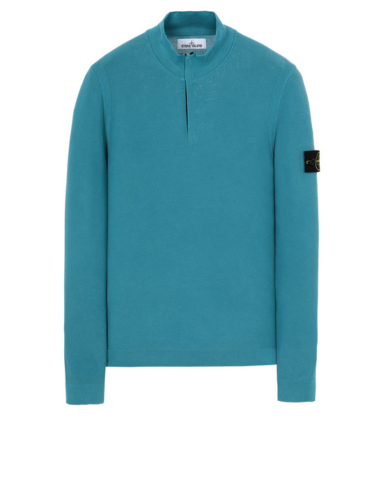 STONE ISLAND 561D9 PIGMENT DYE TREATMENT Sweater Man Turquoise