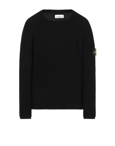 STONE ISLAND 563D8 Sweater Man Black USD 368