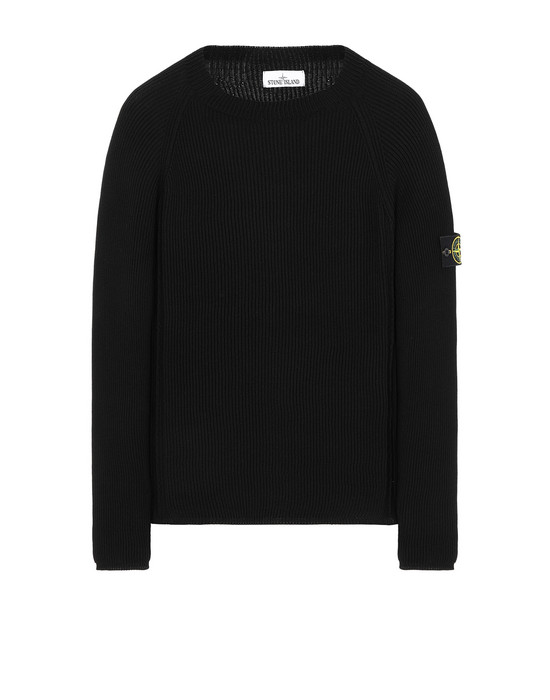 STONE ISLAND 563D8 Sweater Man Black