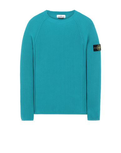 STONE ISLAND 563D8 Sweater Man Turquoise USD 195
