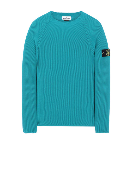 STONE ISLAND 563D8 Sweater Man Turquoise