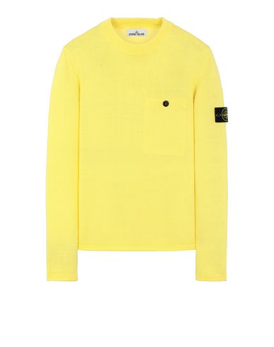 STONE ISLAND 545D4 Sweater Man Lemon EUR 221