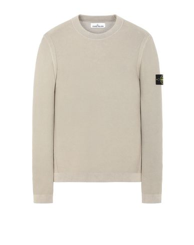 STONE ISLAND 560D9 PIGMENT DYE TREATMENT Sweater Man Dark Beige EUR 184