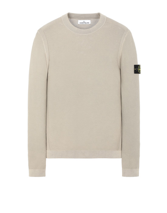 STONE ISLAND 560D9 PIGMENT DYE TREATMENT Sweater Man Dark Beige