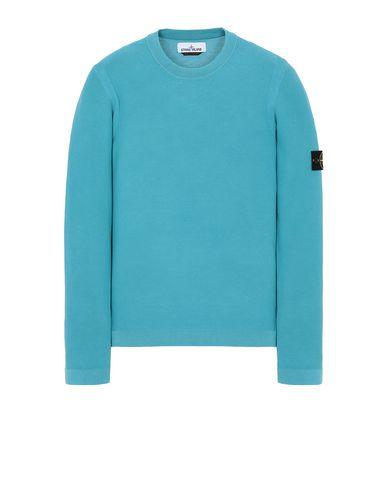 STONE ISLAND 560D9 PIGMENT DYE TREATMENT Sweater Man Turquoise EUR 195