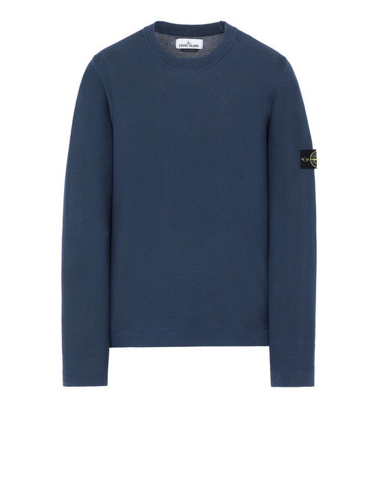 STONE ISLAND 560D9 PIGMENT DYE TREATMENT Sweater Man Blue
