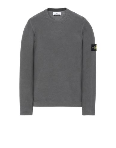 STONE ISLAND 560D9 PIGMENT DYE TREATMENT Sweater Man Steel Gray USD 222