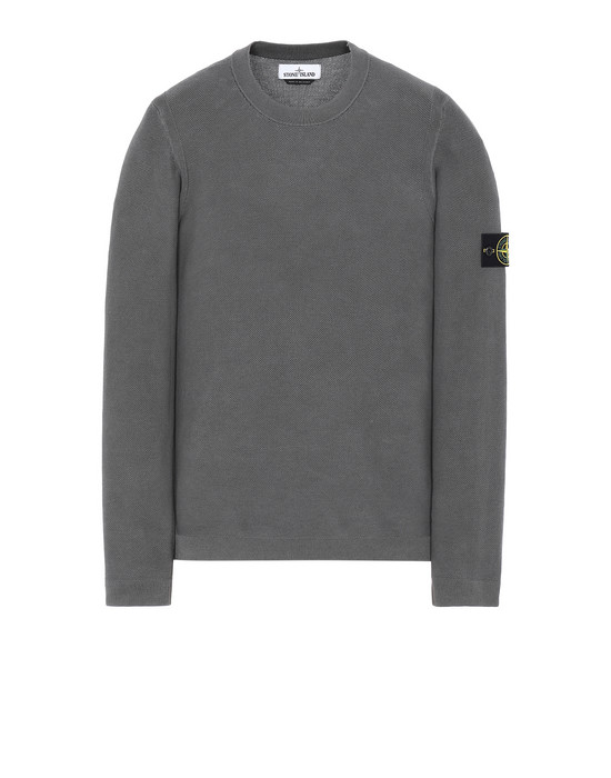 STONE ISLAND 560D9 PIGMENT DYE TREATMENT Sweater Man Steel Grey