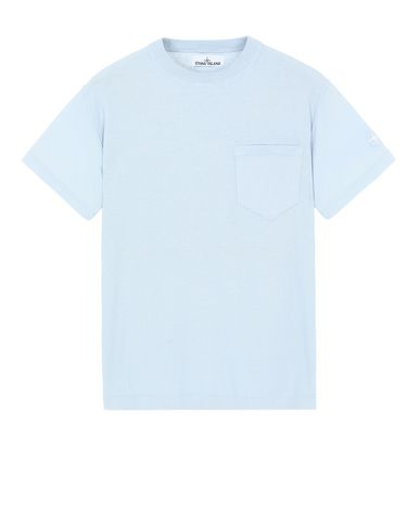 STONE ISLAND 553D5 Sweater Man Baby Blue EUR 236