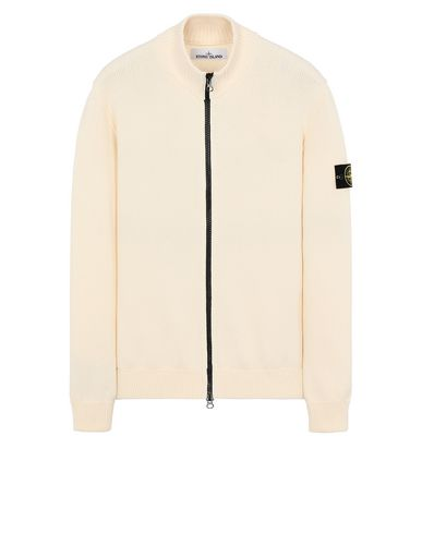 STONE ISLAND 518B1 Sweater Man Ivory USD 509