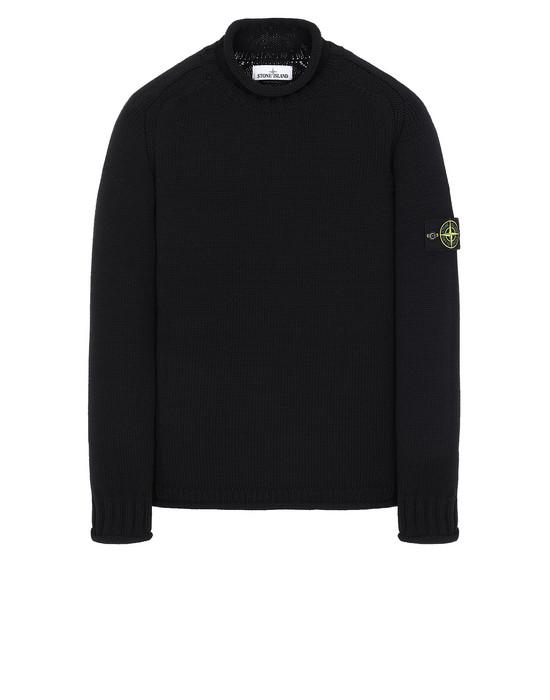STONE ISLAND 555B8 Sweater Man Black